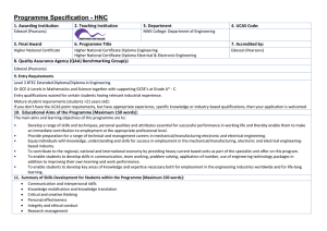 Programme Specification - HNC
