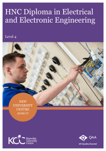 HNC Diploma in Electrical and Electronic Engineering