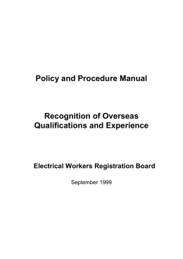 overseas policy and procedures manual