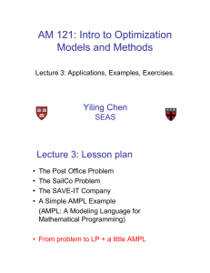 AM 121: Intro to Optimization Models and Methods