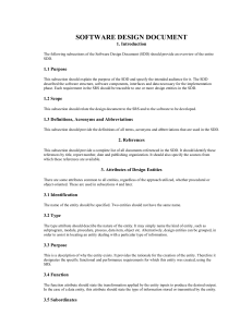 Software Design Document Template