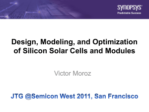 Design, modeling, and optimization of silicon solar cells
