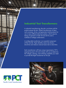 Industrial Test Transformers