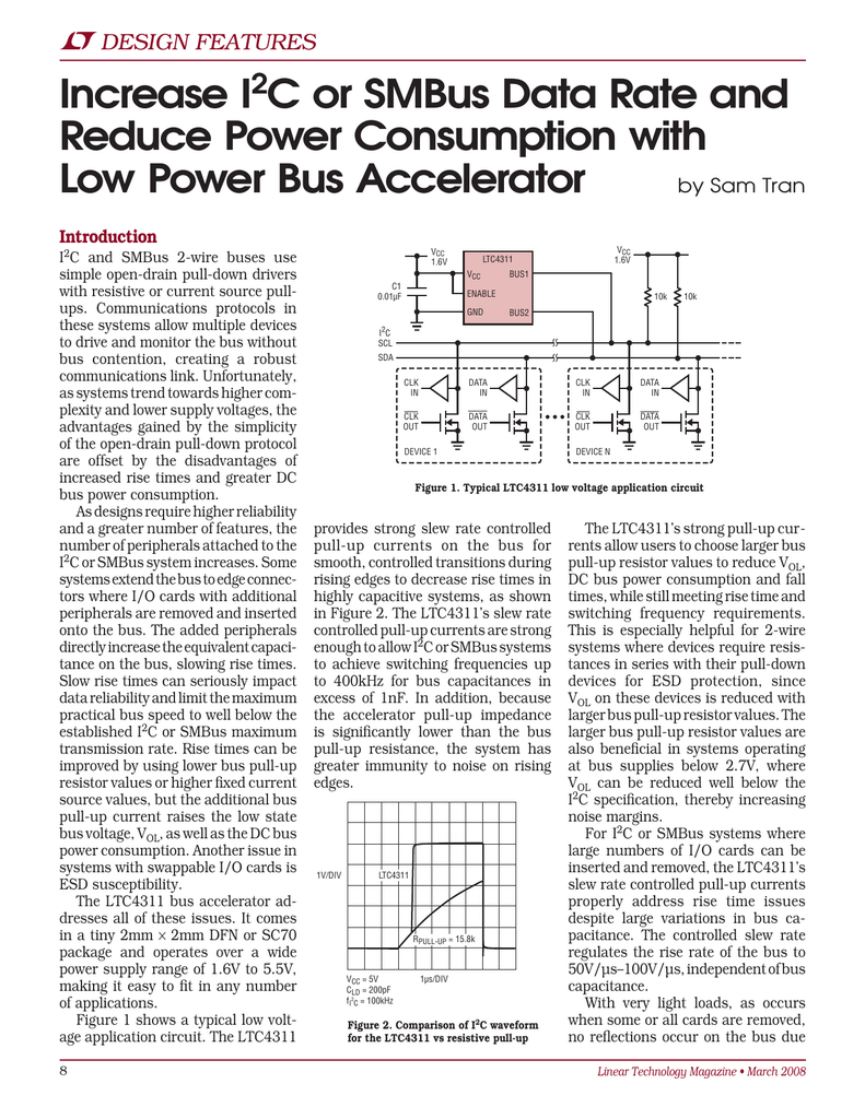 Mar 2008 - Increase I2C or SMBus Data Rate and Reduce Power