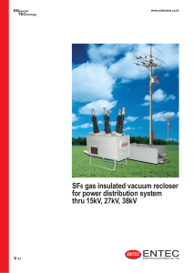 SF6 gas insulated vacuum recloser for power