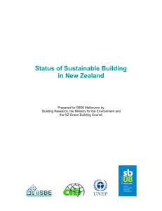 status of sustainable building in New Zealand