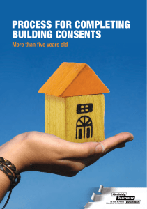 Process for Completing Building Consents More than Five Years Old