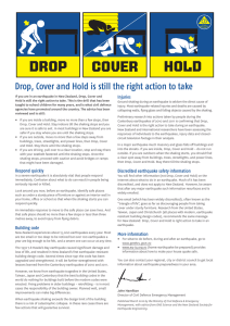 COVER HOLD DROP - New Zealand ShakeOut