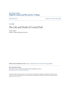 The Life and Death of Central Park