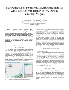 Size Reduction of Permanent Magnet Generators for Wind Turbines