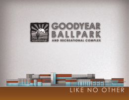 Goodyear Ballpark Facility Brochure