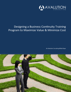 designing a business continuity training program to maximize value