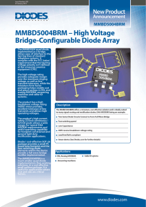 MMBD5004BRM – High Voltage Bridge