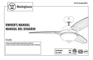 owner`s manual manual del usuario