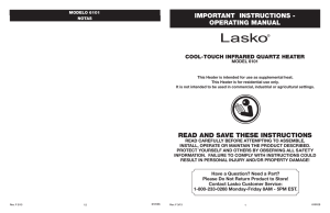 model 6101 - Lasko Products, Inc.