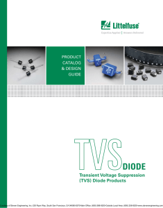 Transient Voltage Suppression (TVS) Diode Products