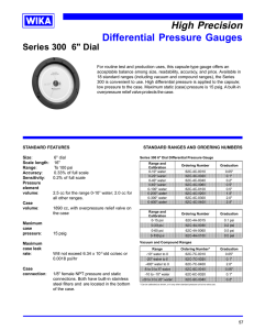 High Precision Differential Pressure Gauges