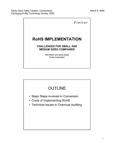 RoHS IMPLEMENTATION OUTLINE