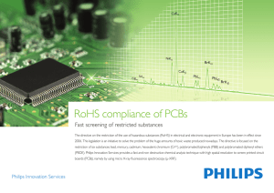 RoHS compliance of PCBs - Philips Innovation labs