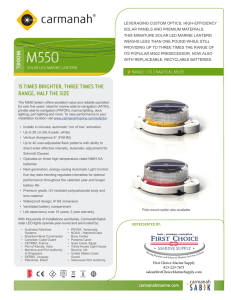 M550 Specsheet - First Choice Marine Supply