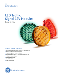 LED Traffic Signal 12V Modules - TPDIS Transportation Products