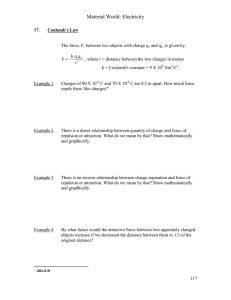 Coulomb`s Law/Kirchoff`s Laws
