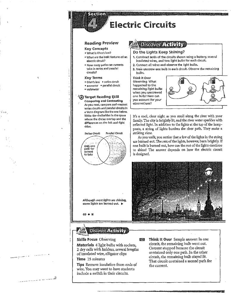 Skills Focus Observing Materials 4 Light Bulbs Wlt A Sockets 2 Dry [ 1024 x 793 Pixel ]