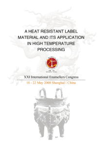a heat resistant label material and its application in high temperature