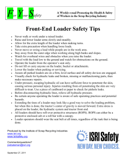 Front-End Loader Safety Tips - Institute of Scrap Recycling