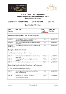 ETCAL Level 3 NVQ Diploma in Electrical and Electronic Engineering