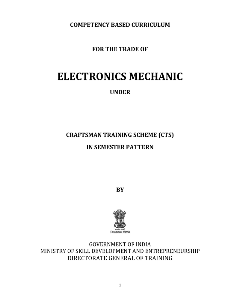 Electronics Mechanic Directorate General Of Training Latching Continuity Tester Circuit Diagrams Schematics Electronic