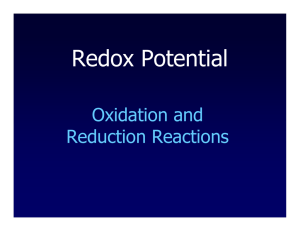 Redox Potential - Oregon State University