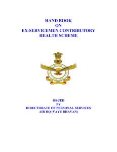 hand book on ex-servicemen contributory health