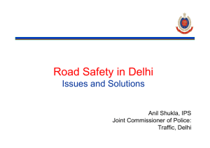 Road Safety in Delhi Issues and Solutions