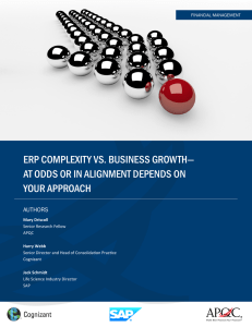 ERP Complexity vs. Business growth—at Odds or in