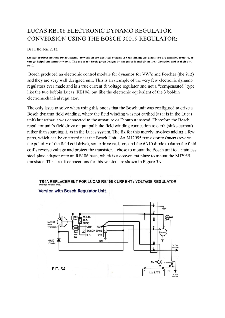 Outstanding The Lucas Rb106 Electronic Dynamo Regulator Using Wiring Cloud Tziciuggs Outletorg