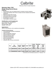 Stainless Steel FDC Single Gang Device Boxes