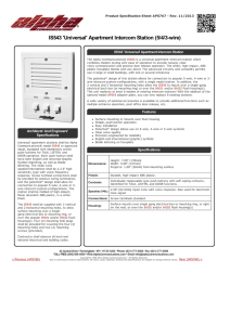 Detailed Specifications - Cooper Electric Supply