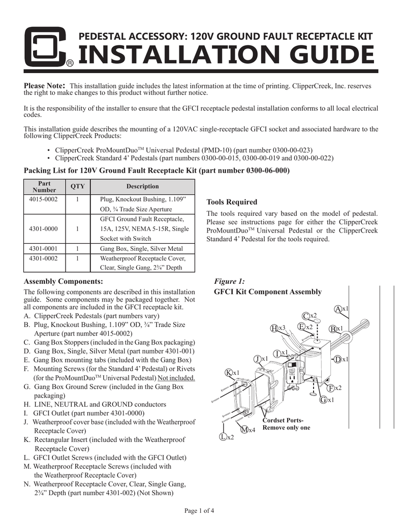 Gfci Outlet Kit How To Hook Up A Gfi