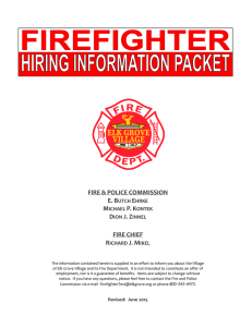 firefighter applicant information packet