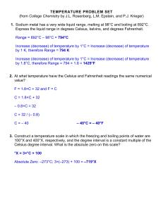 BHCSI Intro Java Homework Assignment: Temperature and Averages