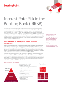 Interest Rate Risk in the Banking Book (IRRBB)