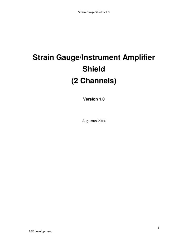 Single Supply Strain Gauge Amplifier