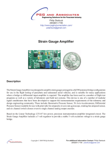 Strain Gauge Amplifier