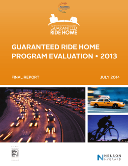 2013 Program Evaluation - Alameda County Guaranteed Ride