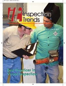 Best Practices In Visual Inspection Best Practices In - Servo