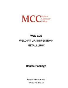 WLD 105 WELD FIT UP/INSPECTION