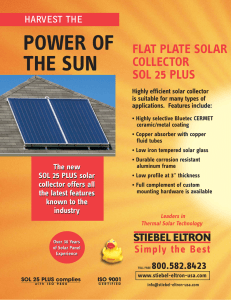 Sol 25 Plus Flat Plate Collector Brochure