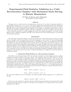 Experimental Field Statistics Validation in a Cubic Reverberation