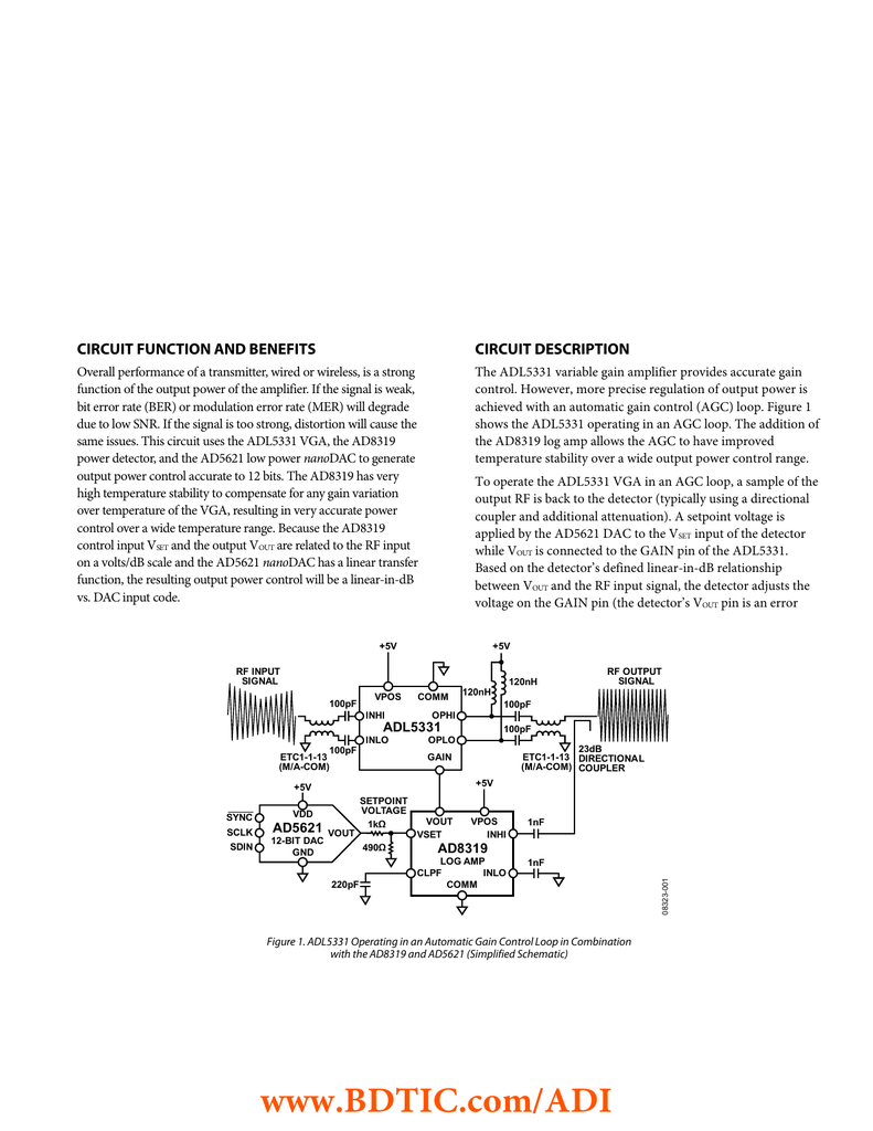 CN-0082 Creating a Constant Envelope Signal Using the ADL5331
